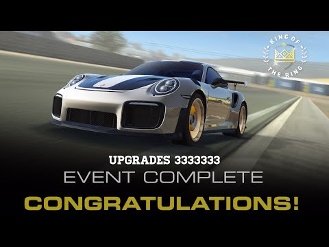 Real Racing 3 King Of The Ring Stage 9 Upgrades 3333333 Total Spend 340 Gold Porsche 911 GT2 RS RR3