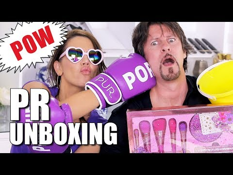 OPEN MAKEUP PR BOXES with TATI & JAMES