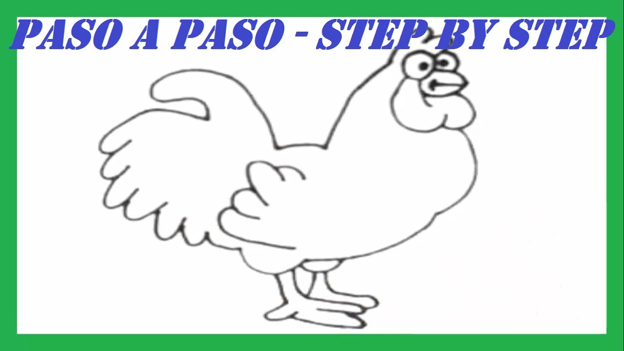 Como dibujar un Gallo paso a paso l How to draw a Rooster step by