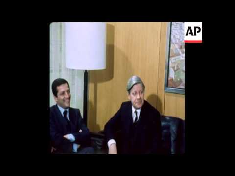 UPITN 26/02/80 WEST GERMAN CHANCELLOR HELMUT SCHMIDT MEETS SUAREZ