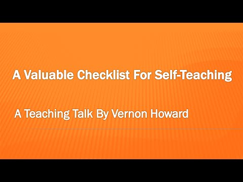 A Valuable Checklist For Self Teaching