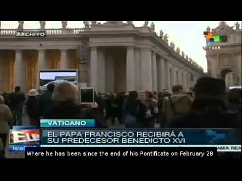 Benedict XVI returns to Vatican, welcomed by Pope Francis