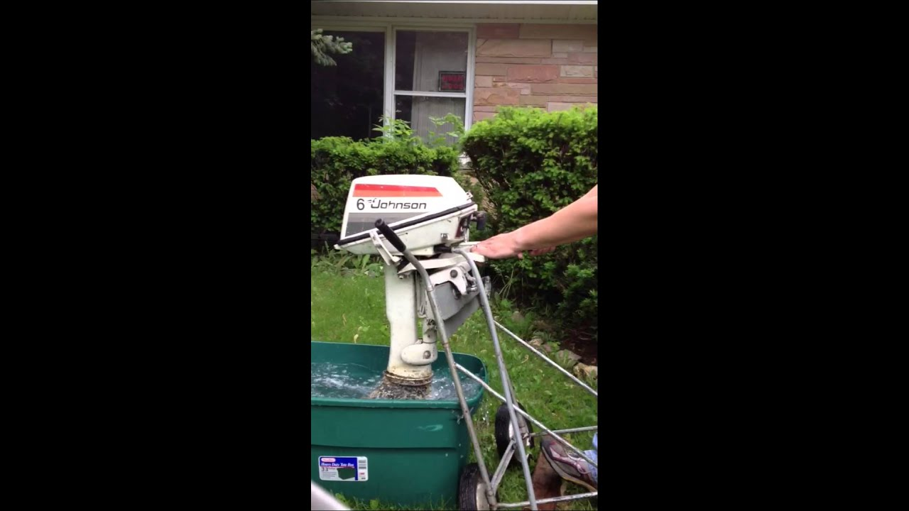johnson 6hp outboard motor engine testing in water impeller was bad rh youtube com Johnson 6Hp Outboard Motor Parts Johnson Outboard Motor Year