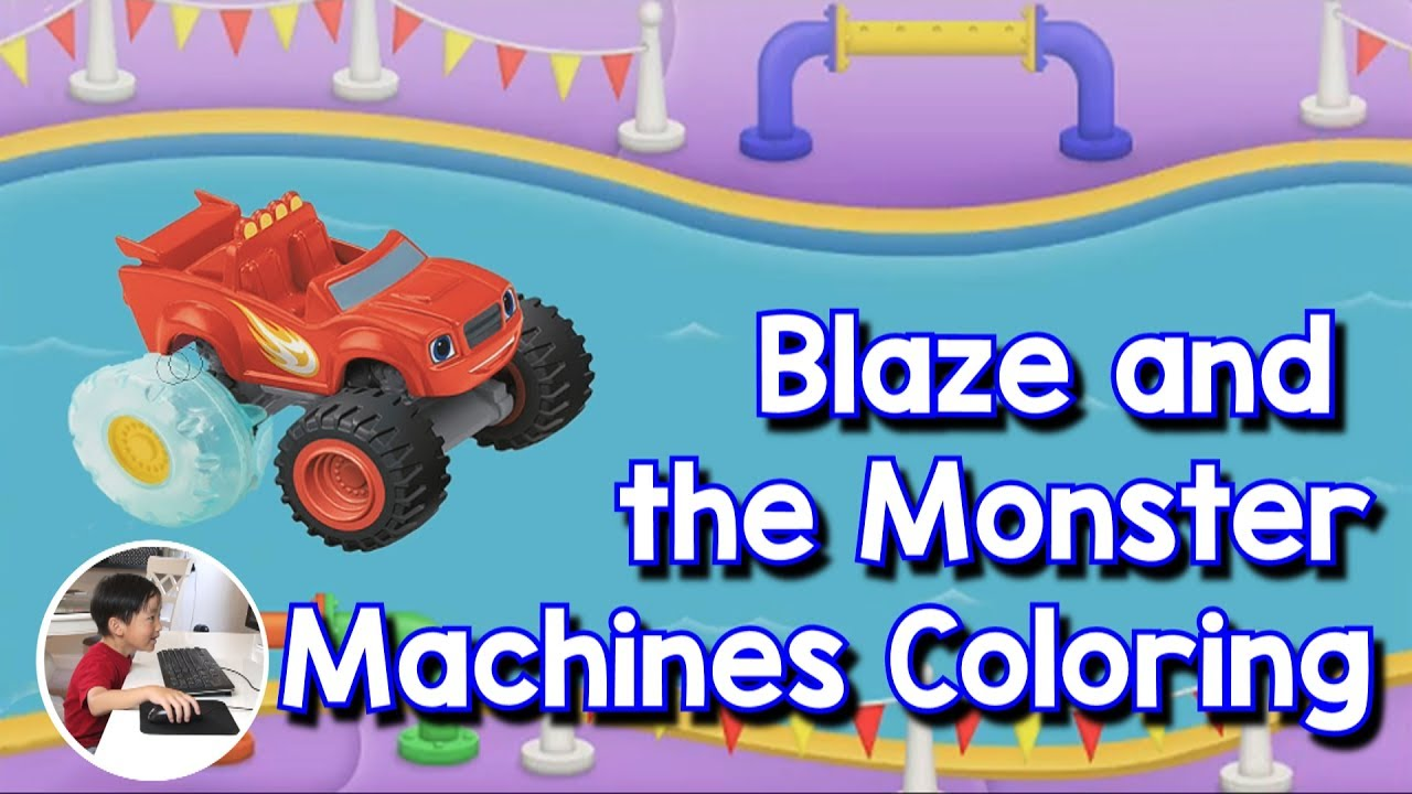 Blaze and the Monster Machines Color Racing Game in Water ...