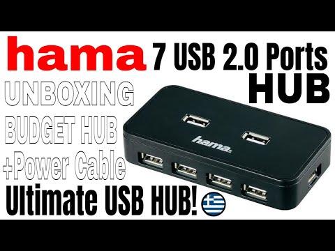 hama usb 2 0 hub 1 7 7 usb ports unboxing gr youtube. Black Bedroom Furniture Sets. Home Design Ideas