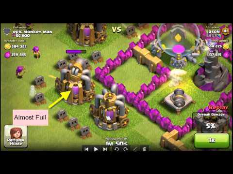 How To Identify And Know How Much Resources In The Gold Collector And Elixir Collector