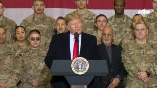 President Trump Delivers Remarks to Troops Video