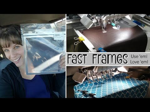 Enjoying Your Multi-Needle: Fast Frames Tutorial. Brother Embroidery Machine, PR655