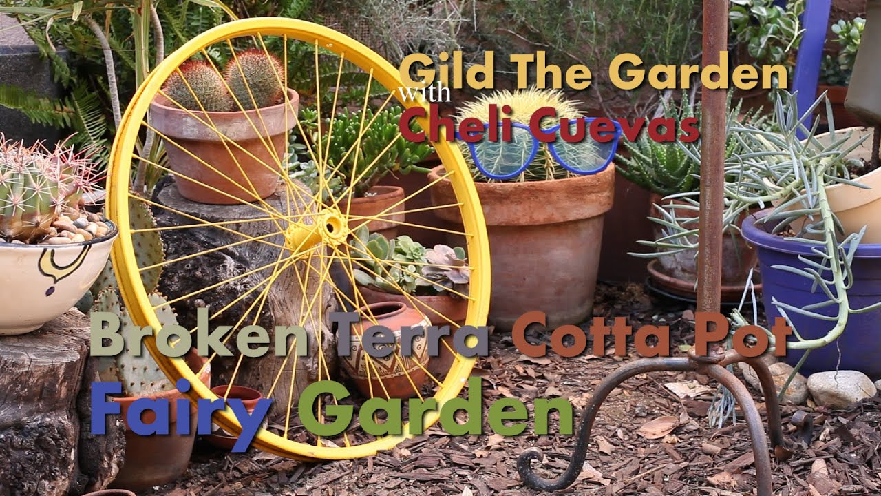 How to make a Broken Terra Cotta Pot Fairy Garden YouTube