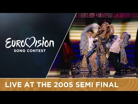 Angelica Agurbash - Love Me Tonight (Belarus) Live - Eurovision 2005