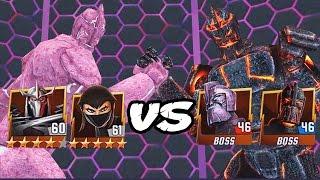 TMNT Legends: Shredder & Karai VS Granitor & Traag