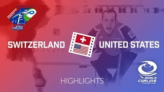 HIGHLIGHTS: Switzerland v United States - World Mixed Doubles Curling Championship 2018