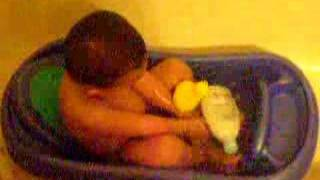 Hamza Taking Bath