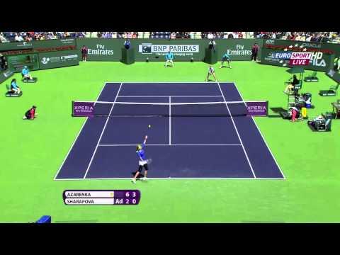 Victoria Azarenka v Maria Sharapova (Indian Wells Final 2012) [HD]