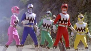 Power Rangers vs Chameliac Warrior (Power Rangers Lost Galaxy)