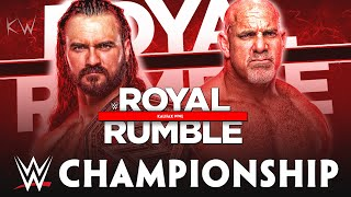 Welcome, everyone! today we're going to see my full match card predictions for wwe royal rumble 2021. watch also some winners results prediction here, in kal...