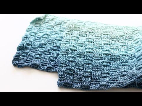 Basket Weave Crochet Scarf Youtube