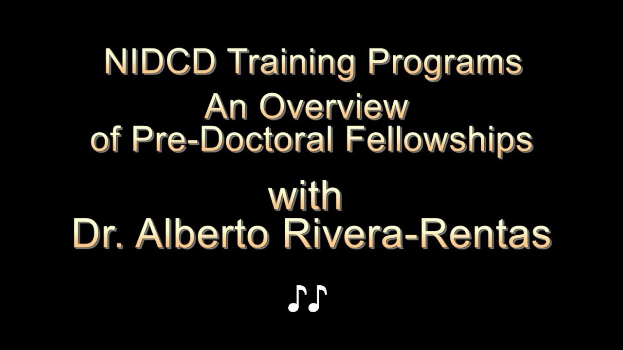 NIDCD Fellowships: Frequently Asked Questions   NIDCD
