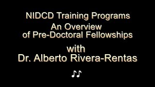 An Overview of Pre-Doctoral Fellowships at the NIDCD thumbnail