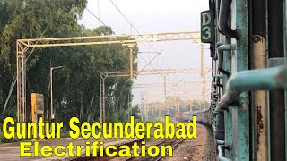 Guntur to Secunderabad (Pagidipalli) Electrification in Progress video