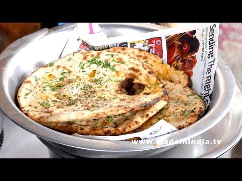 Tandoori Aloo Paratha Making | Potato Stuffed Naan Recipe | Aloo Naan Recipe | DELHI STREET FOODS