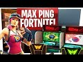 CHALLENGING THE BRAZIL AND ASIA SERVERS TO FORTNITE! - 200+ Ping Fortnite