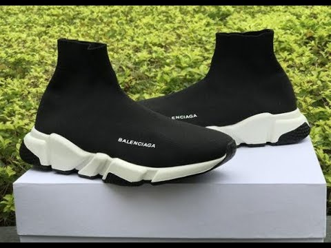 abf52bf3ac1c Best UA Balenciaga Speed Trainer Black White Boost review from   yeezykickss.net