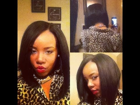 Hair Tutorial Quick Weave U-part Bob - YouTube