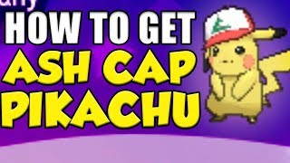 How To Get ASH CAP PIKACHU In Pokemon Sun and Moon!