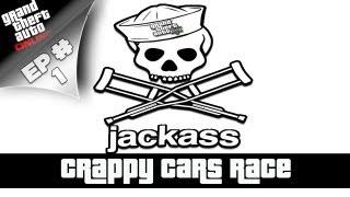 GTA 5 Online - JACKASS Ep. #1 (Crappy Cars Race)