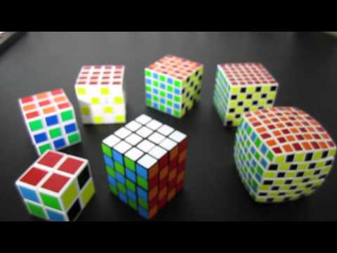 Checkerboard Rubik's Cube Pattern 2x2 through 7x7