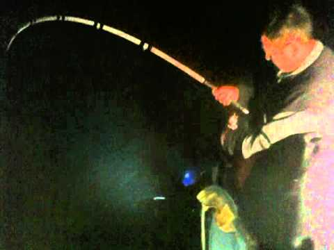 Striper fishing lanier night time youtube for Striper fishing at night