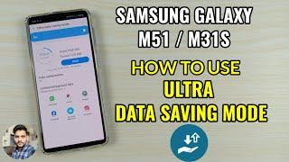 How To Use Ultra Data Saving Mode On Samsung Galaxy M51 & M31S screenshot 3