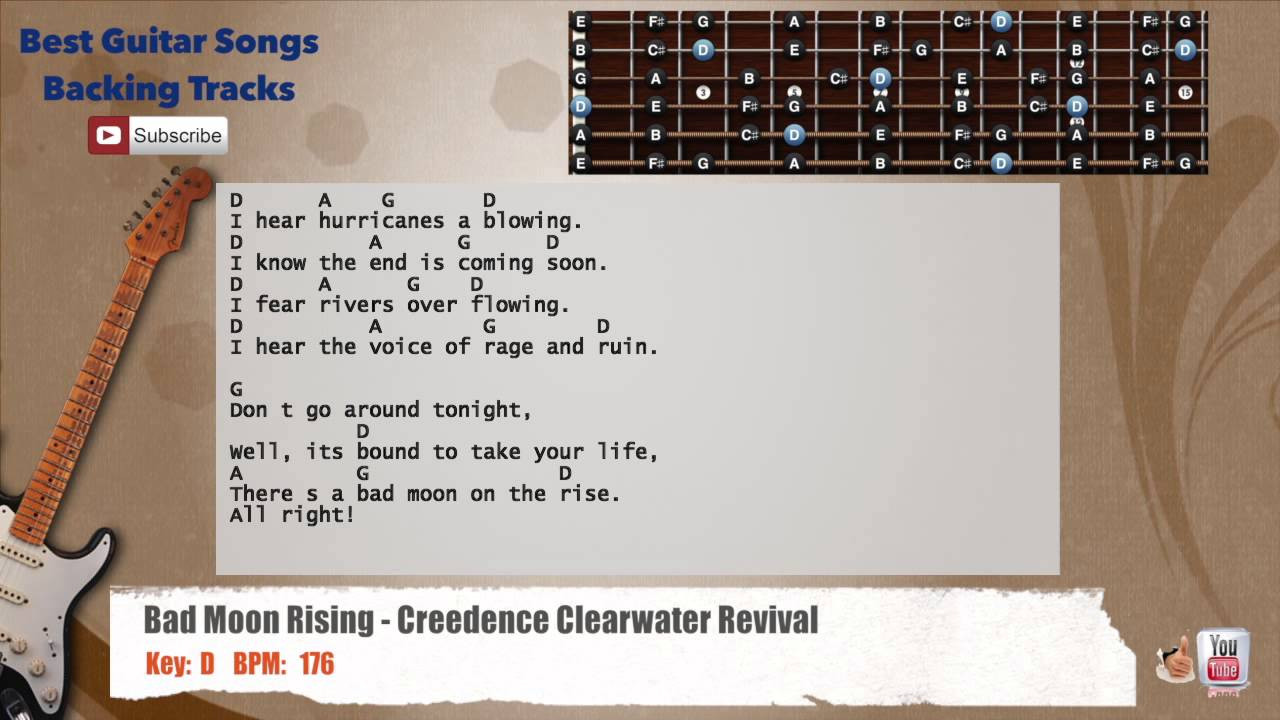Bad Moon Rising Creedence Clearwater Revival Guitar