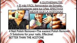 Como hacer 5 Quitaesmalte,Removedor Pintura Casero sin Acetona/5 Homemade nail polish remover Thumbnail