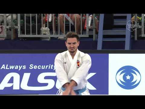 Arata Kinjo (Japan) Vs Damian Quintero (Spian) Tokyo Karate 1 Premier League 2019 Bronze Medals