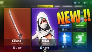 (Nouveauté) NEW SKIN NINJA + CATANA SUR FORTNITE BATTLE ROYAL !