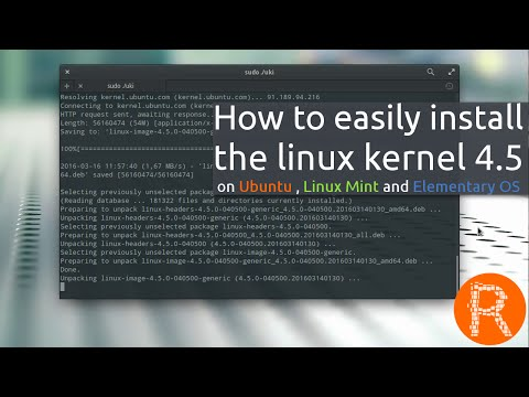 How to easily install the linux kernel 4.5 on Ubuntu , Linux Mint and Elementary OS