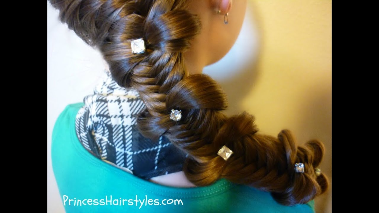 Fishtail Bow Tie Braid Back To School Hairstyles YouTube