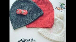 🤠 Вязаная шапка спицами для начинающих , вязаная повязка спицами , повязка на голову спицами