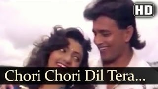 CHORI CHORI DIL TERA CHURAYENGE - PHOOL AUR ANGAAR - HQ VIDEO LYRICS KARAOKE
