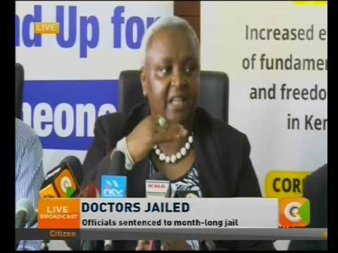 Kenya National Commission on Human Rights reaction on the jailing of KMPDU Officials