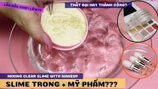 Mixing Clear Slime With Make up