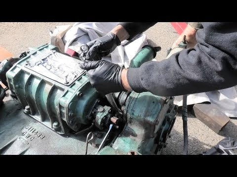 Moving the stands and removing the Detroit Diesel blower