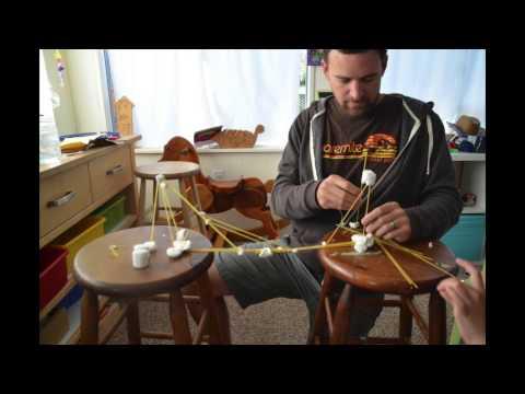 Spaghetti And Marshmallow Bridge