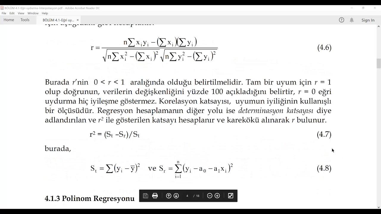 11) Regresyon Analizi, En Küçük Kareler Yöntemi, Standart Hata Terimi     İSTATİSTİK     XDERS