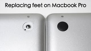 How to Replace missing feet on Macbook Pro