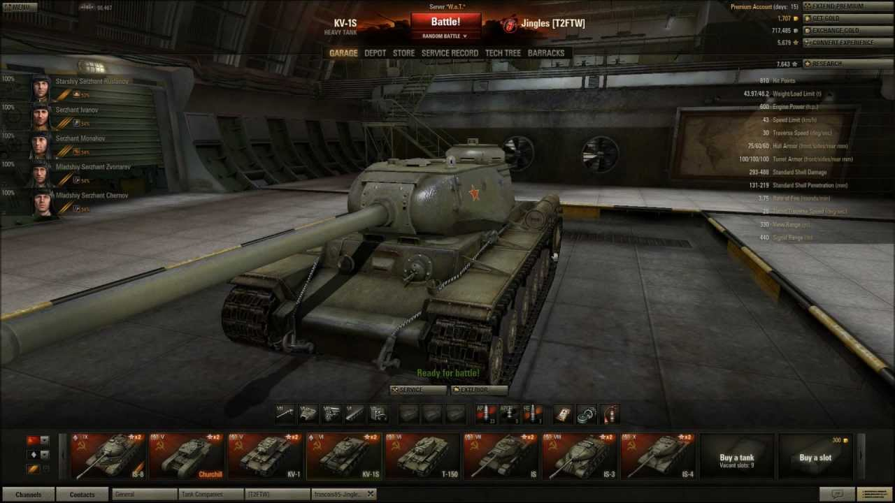 world of tanks kv 1s tier 6 heavy tank back in the ussr youtube. Black Bedroom Furniture Sets. Home Design Ideas