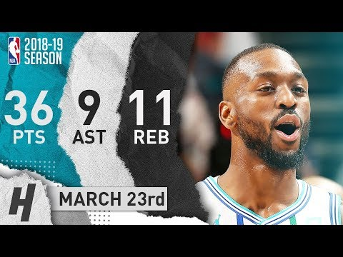 Kemba Walker Full Highlights Hornets vs Celtics 2019.03.23 - 36 Pts, 9 Ast, 11 Reb, TOO CLUTCH!