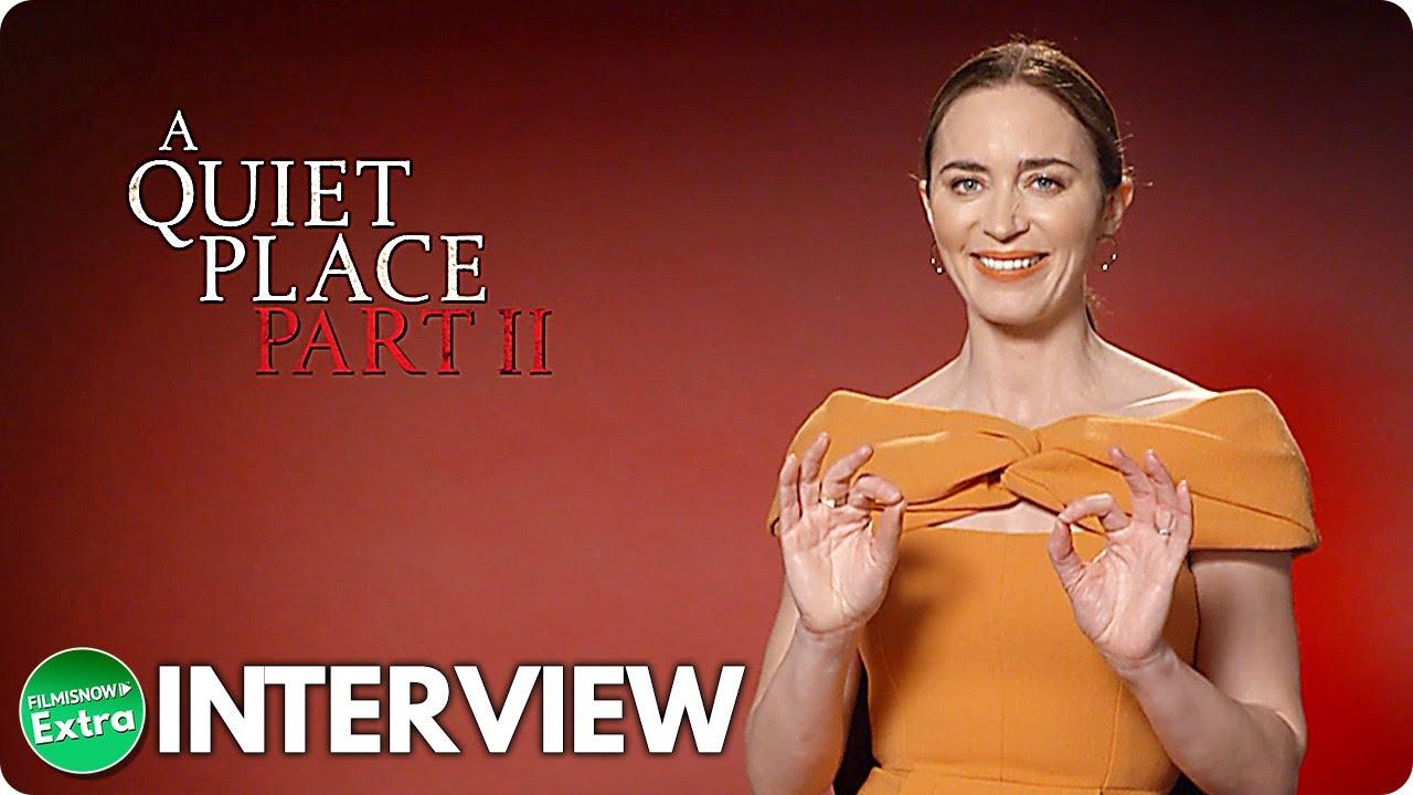 A QUIET PLACE PART II | Emily Blunt Official 2021 Interview